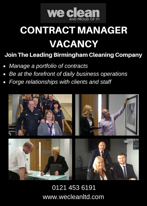 contract manager vacancy