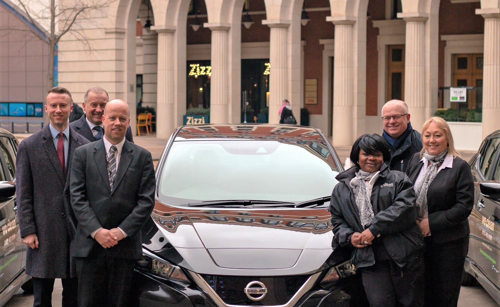 Directors-and-staff-of-We-Clean-at-Brindleyplace Cleaning Green - Birmingham Cleaning Company Goes Electric