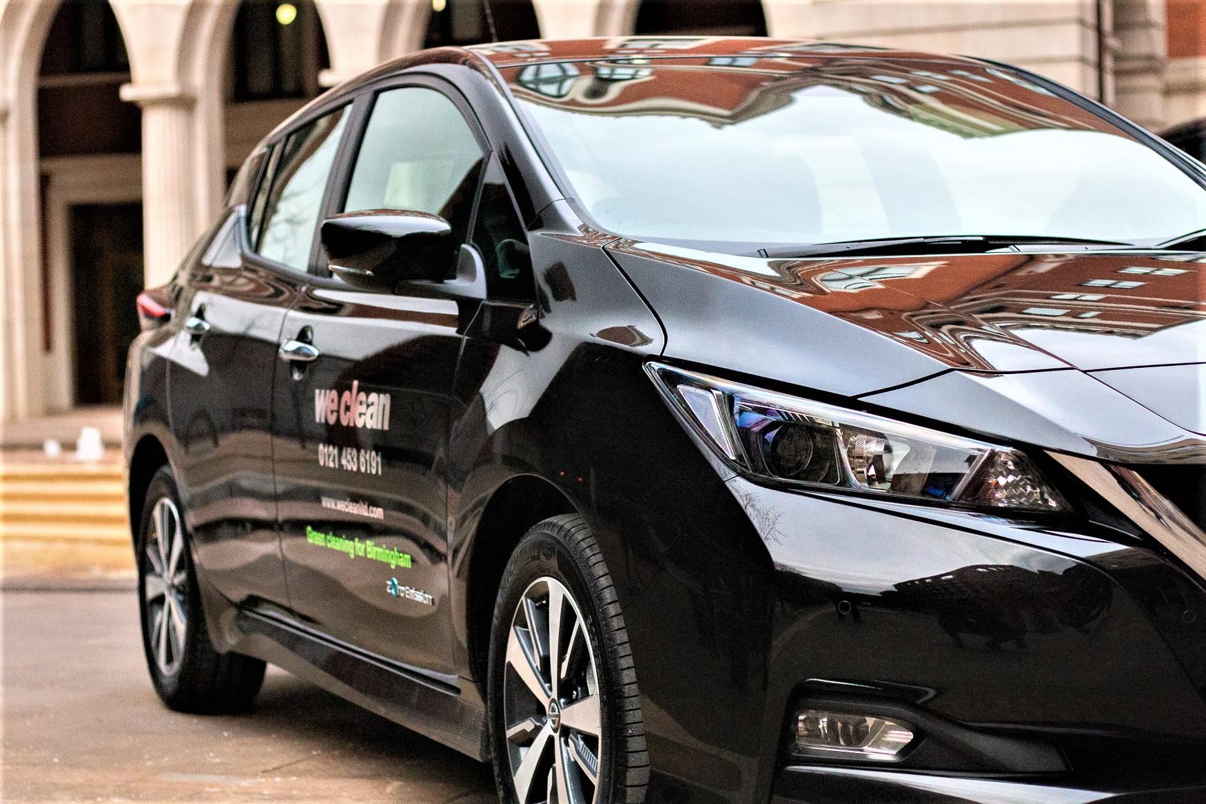 We-Clean-Green-in-Birmingham-Nissan-Leaf Cleaning Green - Birmingham Cleaning Company Goes Electric